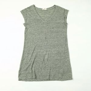 CP Shades Heathered Linen Knit V-Neck Tunic Top